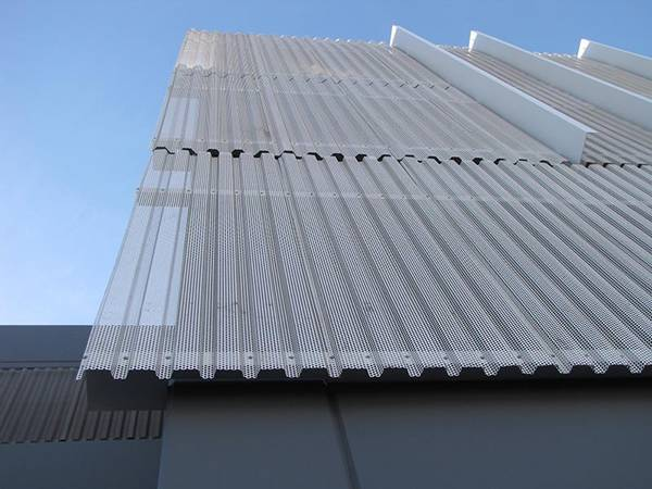 Corrugated Perforated Metal Panels For Architectural Metal